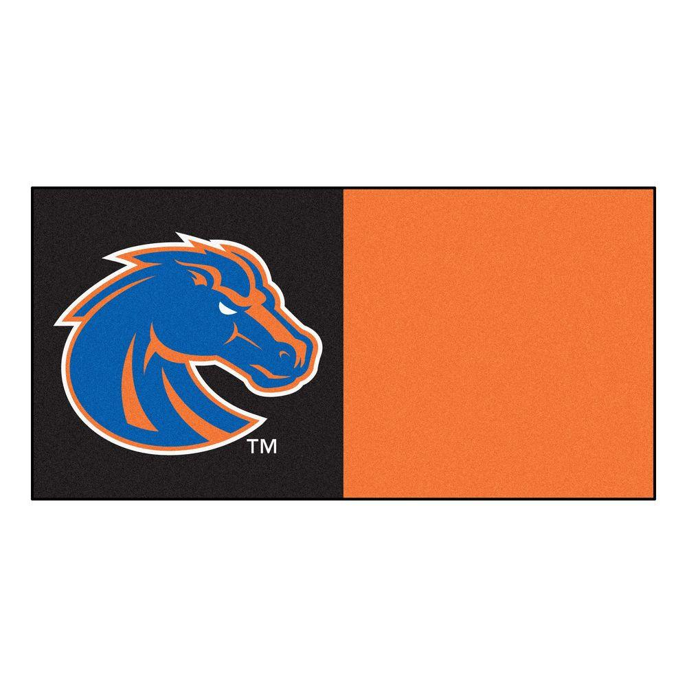 NCAA - Boise State University Orange and Black Pattern 18 in.