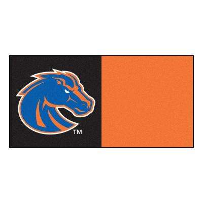 NCAA - Boise State University Orange and Black Pattern 18 in. x 18 in. Carpet Tile (20 Tiles/Case)