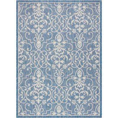 Country Side Denim 4 ft. x 6 ft. Indoor/Outdoor Area Rug
