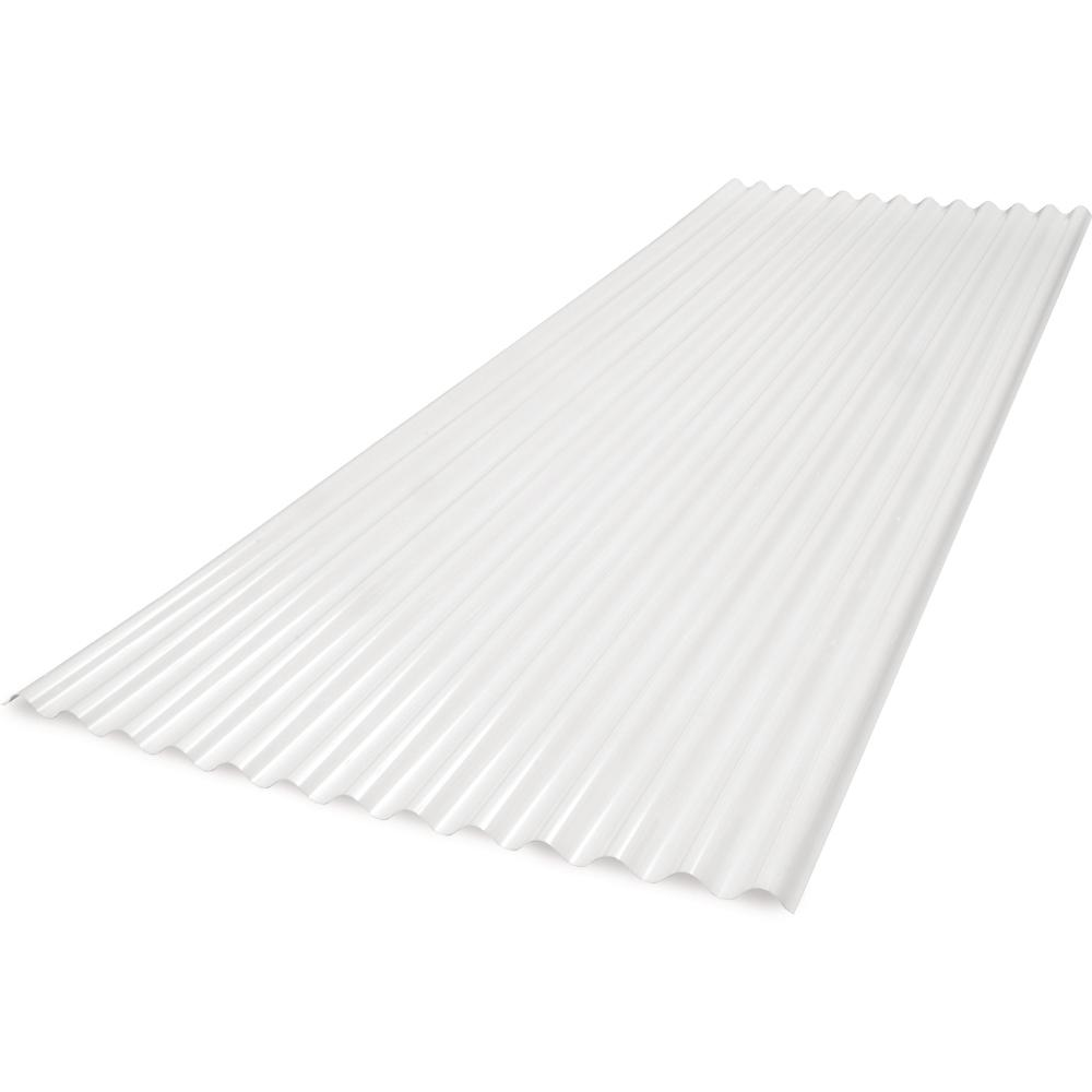 6 ft. SunSky 2.67 LP Polycarbonate Roof Panel in White Opal