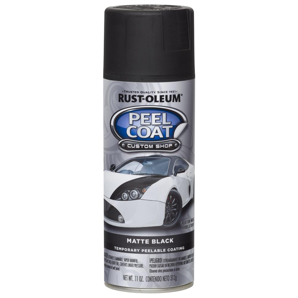 Rust-Oleum Automotive 11 oz. Peel Coat Matte Black Rubber Coating Spray Paint