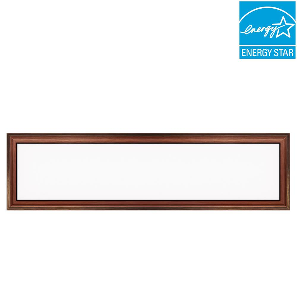 Commercial Electric 1 Ft X 4 50 Watt Dimmable Bronze Integrated Led