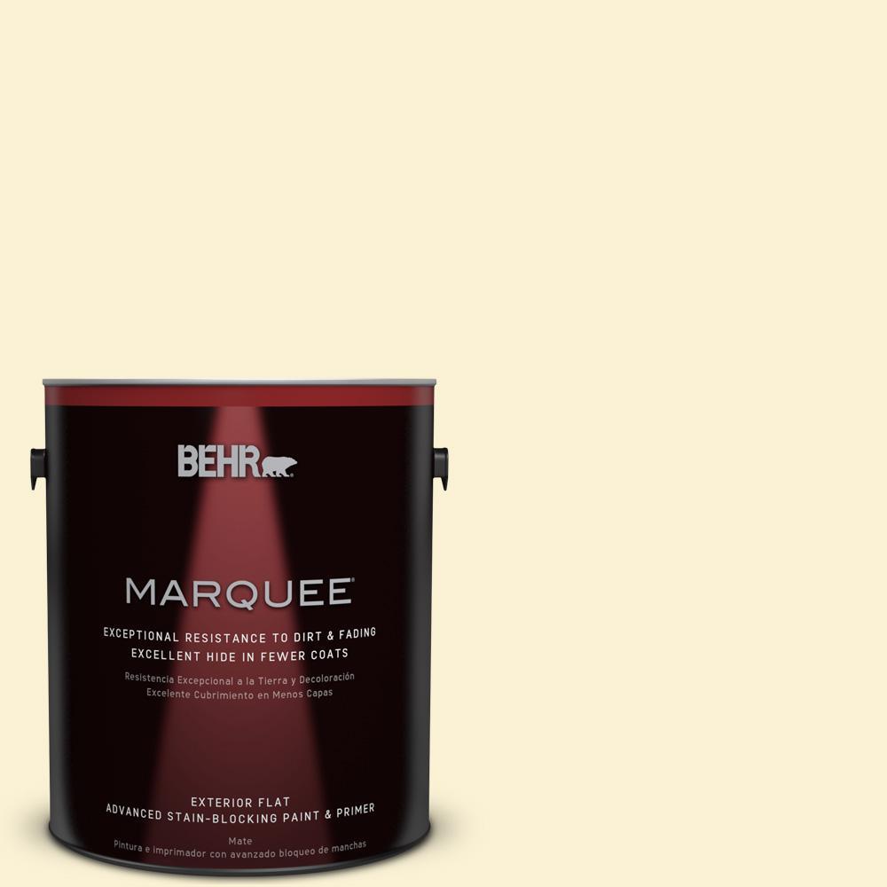 BEHR MARQUEE 1-gal. #350A-2 Vanilla Milkshake Flat Exterior Paint