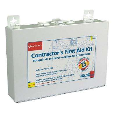 179-Piece Contractor's First Aid Kit Metal Case
