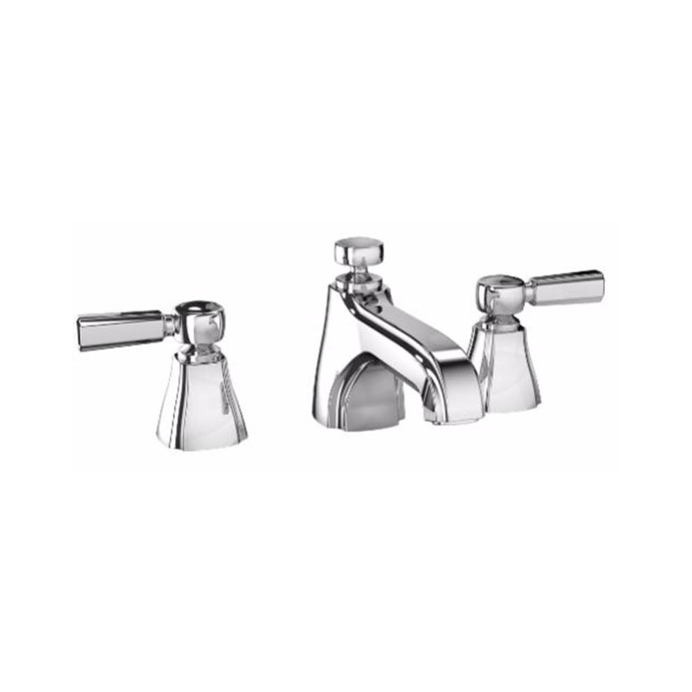 Widespread 2 Handle Bathroom Faucet With Cross Handles In Polished