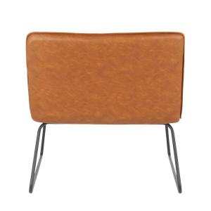 Astounding Lumisource Casper Industrial Camel Faux Leather Accent Chair Pdpeps Interior Chair Design Pdpepsorg