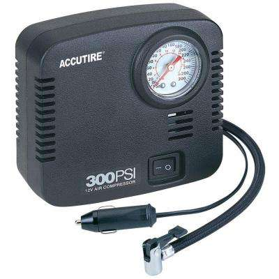 Accutire 10 ft. cord Compact 300 psi 12-Volt Compressor