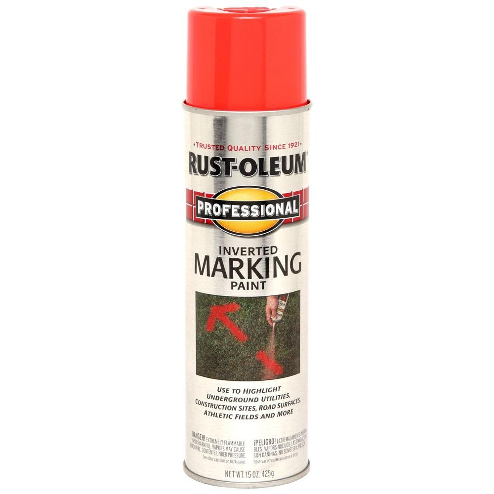 15 oz. Fluorescent Red-Orange Inverted Marking Spray Paint (Contractor 12-Pack)