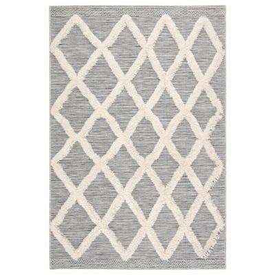 Parades Trellis 7 ft. 10 in. x 10 ft. 10 in. Gray Area Rug
