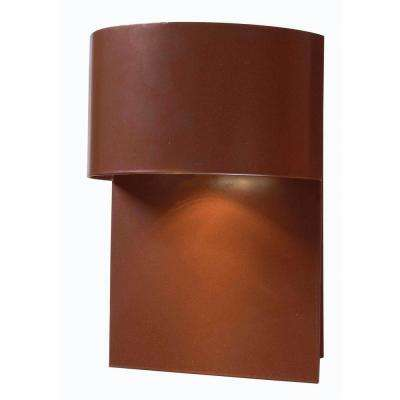 Moonlit 1-Light Copper Dark Sky Wall Mount Lantern