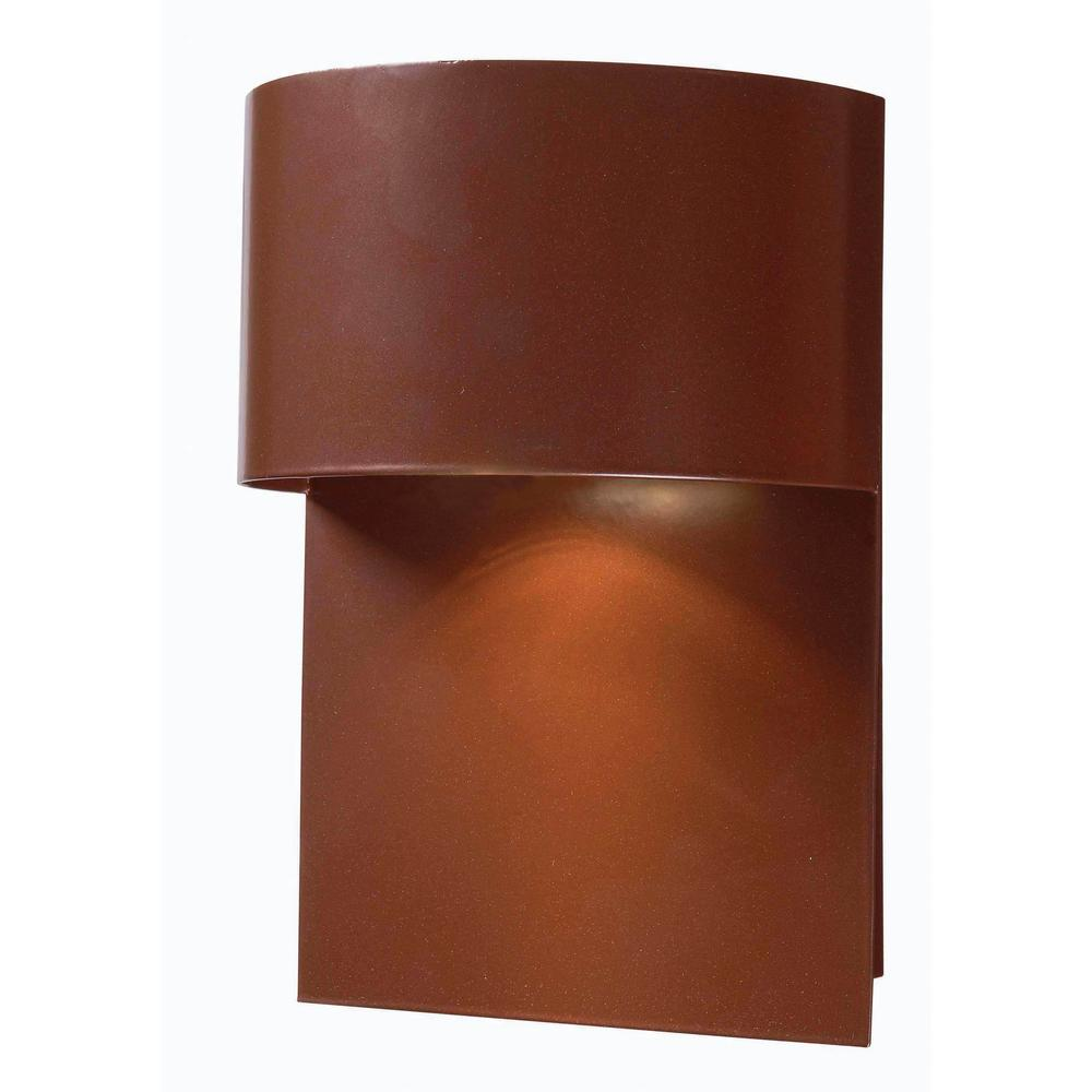 Kenroy Home Moonlit 1-Light Copper Dark Sky Wall Mount Lantern