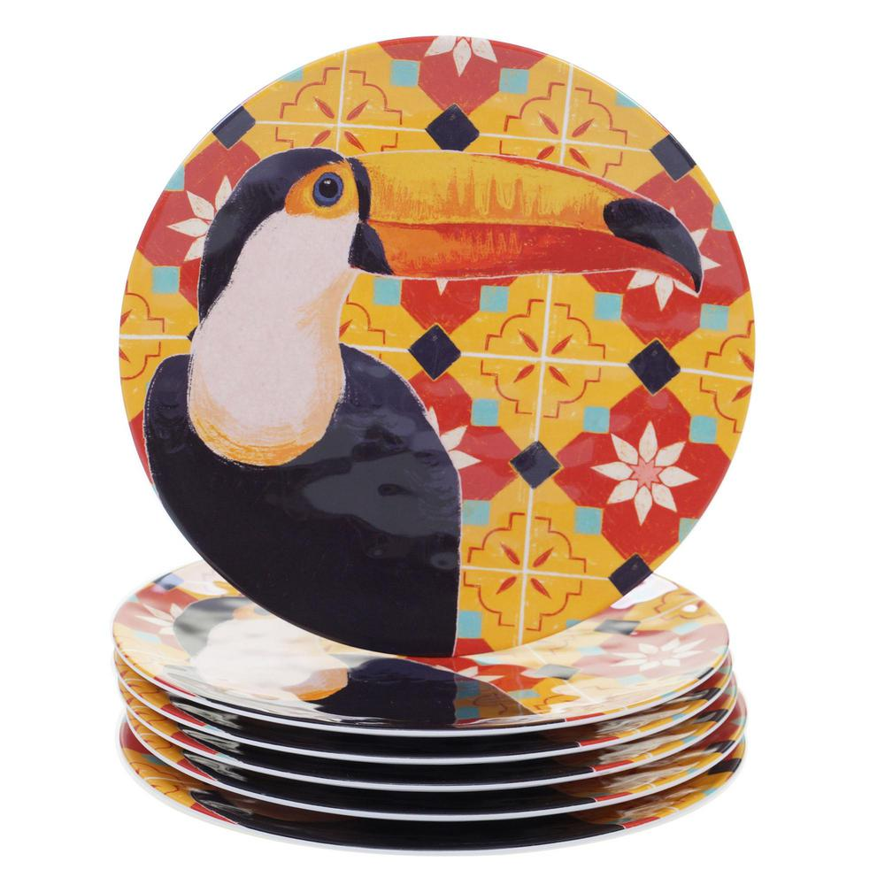 Paradise Multicolor Dinner Plate (Set of 6)