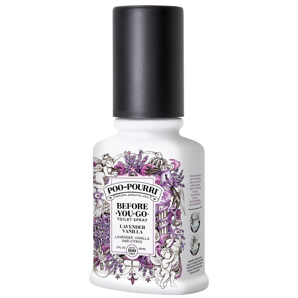 Poo Pourri Before You Go 2 Oz Lavender Vanilla Toilet Spray 2 Pack Lv 002 Cb 2ct The Home Depot