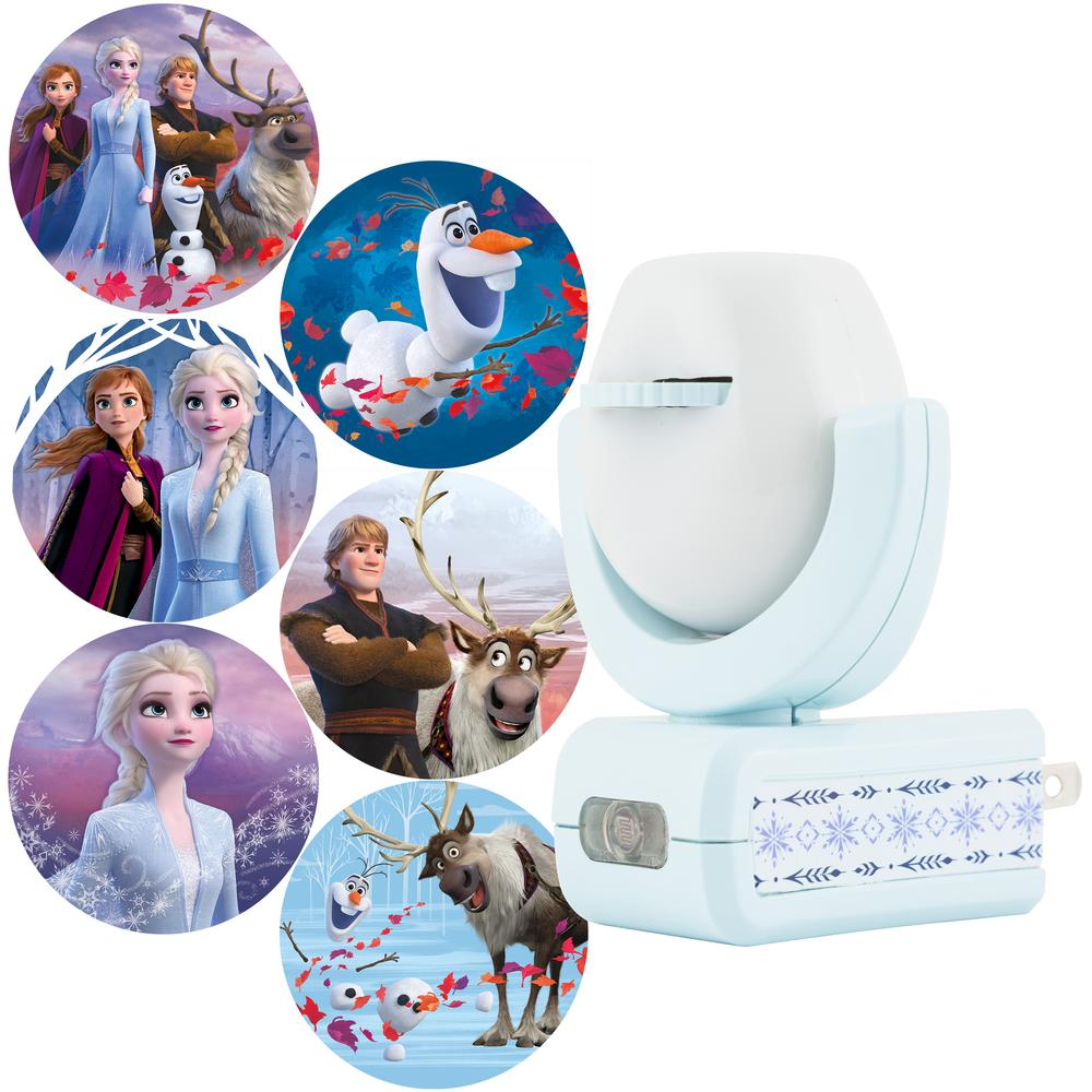 Home Kids Bedroom Disney Frozen Projectable LED Plug In Night Light Wall Lamp