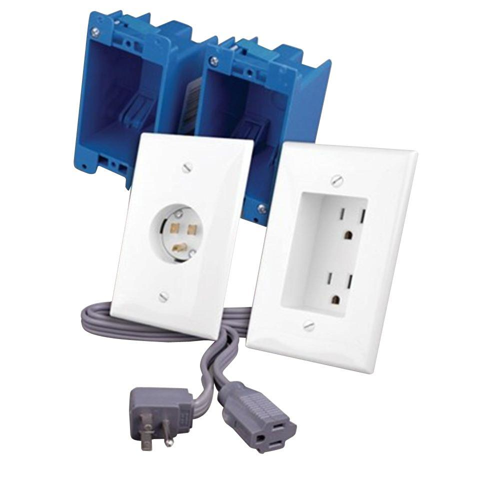 Vanco 2-Outlet Rapid Link Power - White