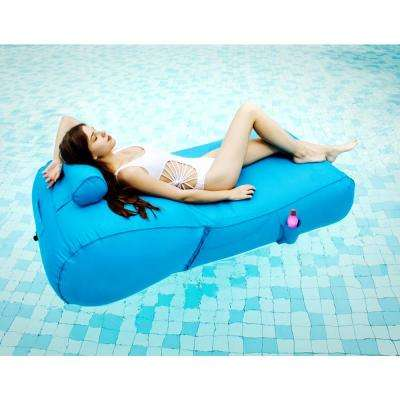 Aqua Blue Pool Float Sun Lounger