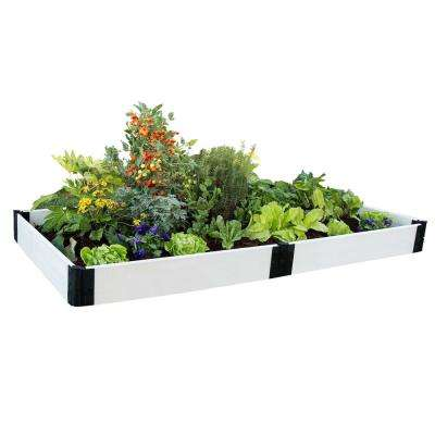 4 ft. x 8 ft. x 8 in. Classic White Composite Raised Garden Bed Kit