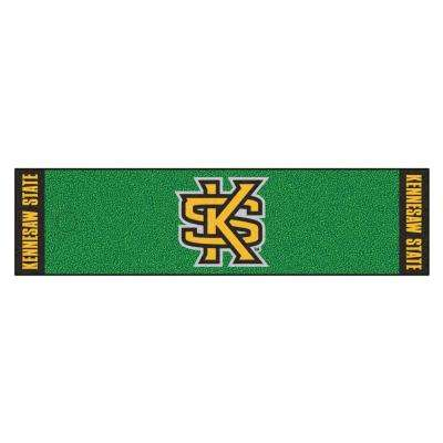 NCAA Kennesaw State University 1 ft. 6 in. x 6 ft. Indoor 1-Hole Golf Practice Putting Green
