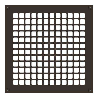 Square Series 12 in. x 12 in. Steel Grille, Oil Rubbed Bronze with Mounting Holes