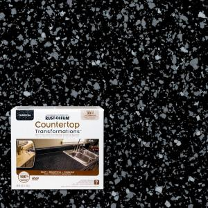 Cabinet Doors Home Depot >> Rust-Oleum Transformations 48 oz. Charcoal Small Countertop Kit-258512 - The Home Depot