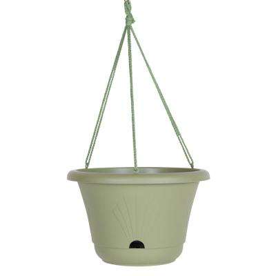 13 x 8.75 Living Green Lucca Plastic Self Watering Hanging Basket