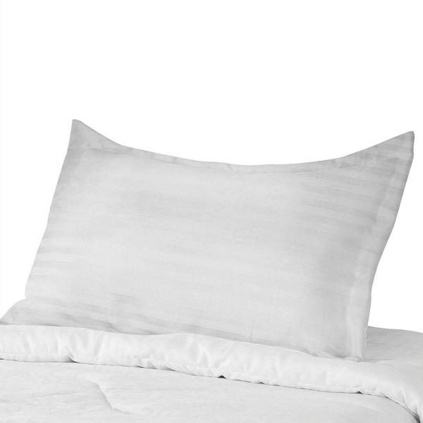 541b247e A1 Home Collections Most Comfortable 300TC White Stripe Cotton Pillow Case  Anti Mite Antibacterial Treated 3