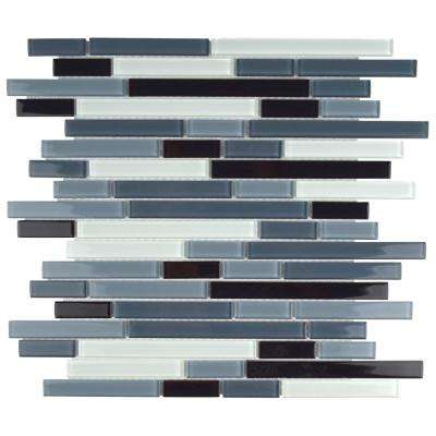 Spectrum Piano Mariana 11-3/4 in. x 11-3/4 in. x 4 mm Glass Mosaic Tile