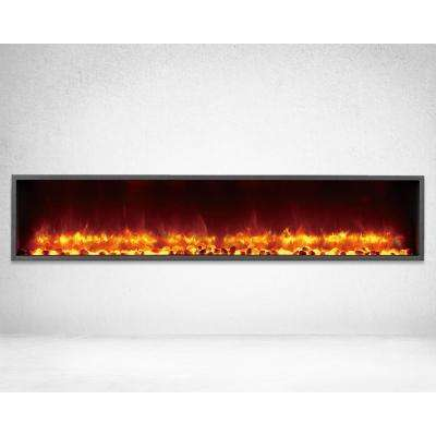 63 in. Built-in LED Electric Fireplace in Black Matt Finish