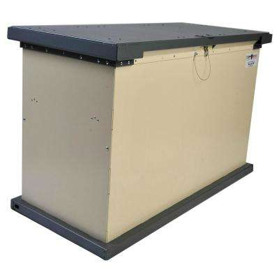 GRIZZLY Series 149 Gal. Beige Galvanized Metal Bear-Proof Trash