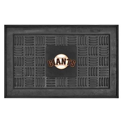 MLB San Francisco Giants Black 19 in. x 30 in. Vinyl Indoor/Outdoor Door Mat