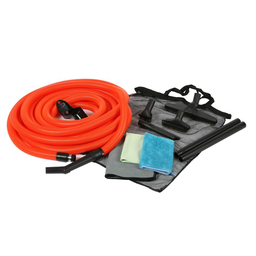 Cen-Tec 1-1/4 in. Premium Garage Attachment Kit with 50 ft. Hose for Central Vacuums