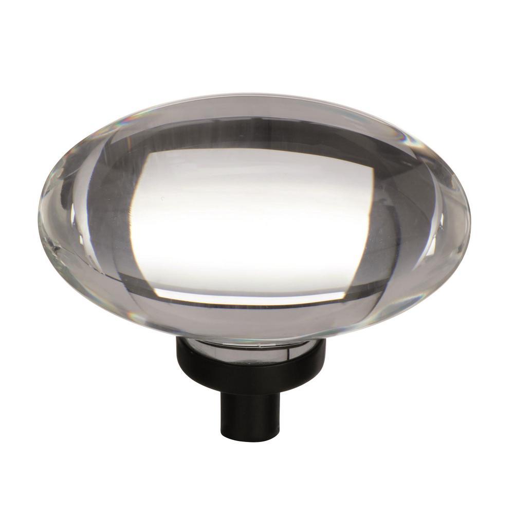 Glacio 1-3/4 in. (44 mm)  Clear/Black Bronze Cabinet Knob