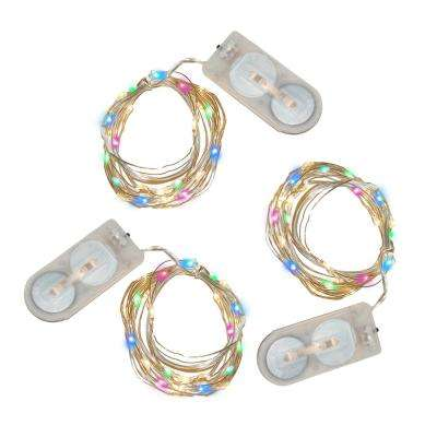 20-Light Mini Waterproof LED Multi- Color String Light (3-Pack)