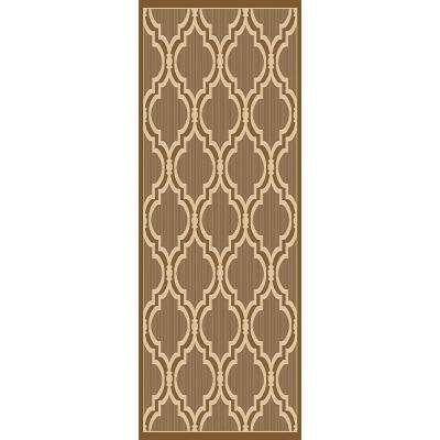 Sunshine Collection Gold/Natural 3 ft. x 8 ft. Outdoor Patio Runner Rug