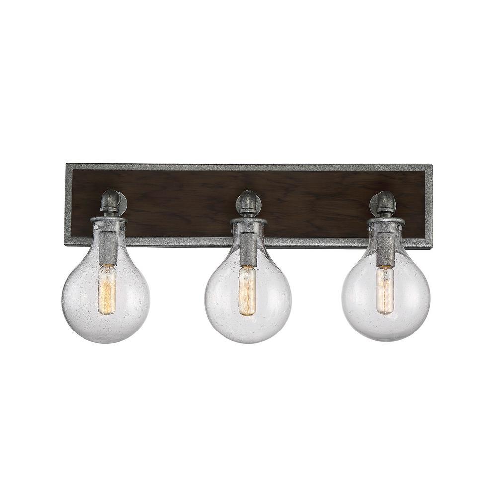 3-Light Galvanized Metal Bath Light