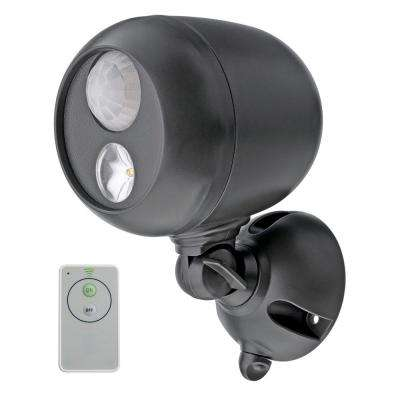 Wireless 120° Bronze Motion Activated Outdoor Integrated LED Sensing Security Flood Light with Remote Control