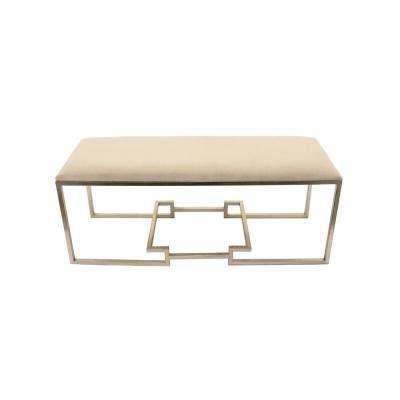 20 in. Silver Metal Bench