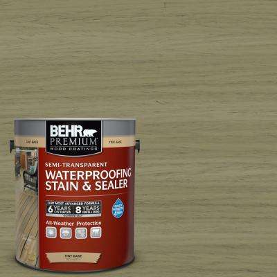 1 gal. #ST-151 Sage Semi-Transparent Waterproofing Exterior Wood Stain and Sealer
