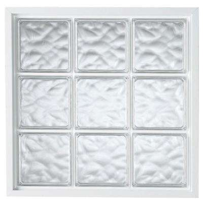 34 in. x 34 in. Acrylic Block Fixed Vinyl Glass Block Window in White