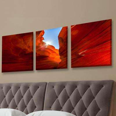 "20 in. x 60 in. ""Sunrise Canyon Antelope"" Printed Canvas Wall Art"