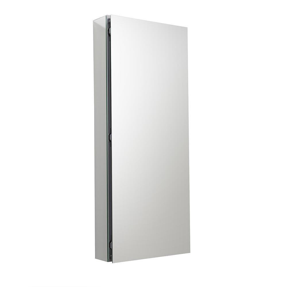 Fresca 15 in. W x 36 in. H x 5 in. D Frameless Recessed or Surface-Mounted Bathroom Medicine Cabinet