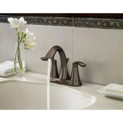 Eva 4 in. Centerset 2-Handle High-Arc Bathroom Faucet in Oil Rubbed Bronze (2-Pack)