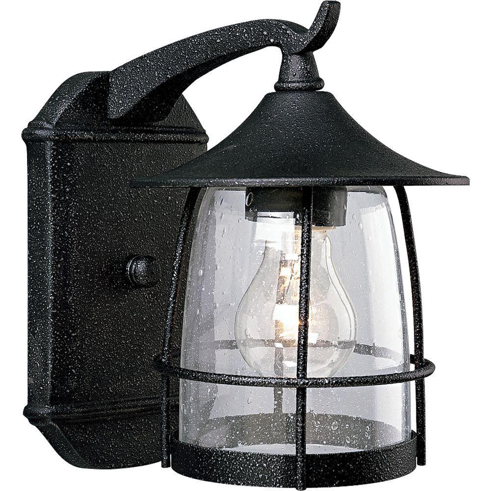 Progress Lighting Prairie Collection 1-Light Outdoor Gilded Iron Wall Lantern