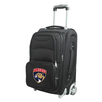 Denco NHL Florida Panthers 21 in. Black Carry-On Rolling Softside Suitcase