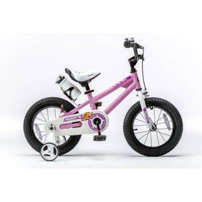 16 in. Wheels Freestyle BMX Kid's Bike, Boy's Bikes and Girl's Bikes with Training Wheels in Pink