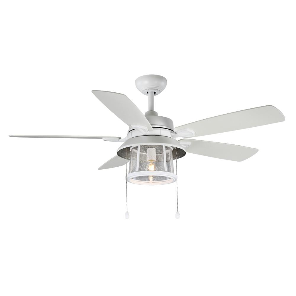 home decorators collection 52 in shanahan led indoor outdoor matte white ceiling fan with light. Black Bedroom Furniture Sets. Home Design Ideas