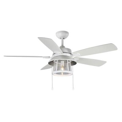 Shanahan 52 in. LED Indoor/Outdoor Matte White Ceiling Fan with Light Kit