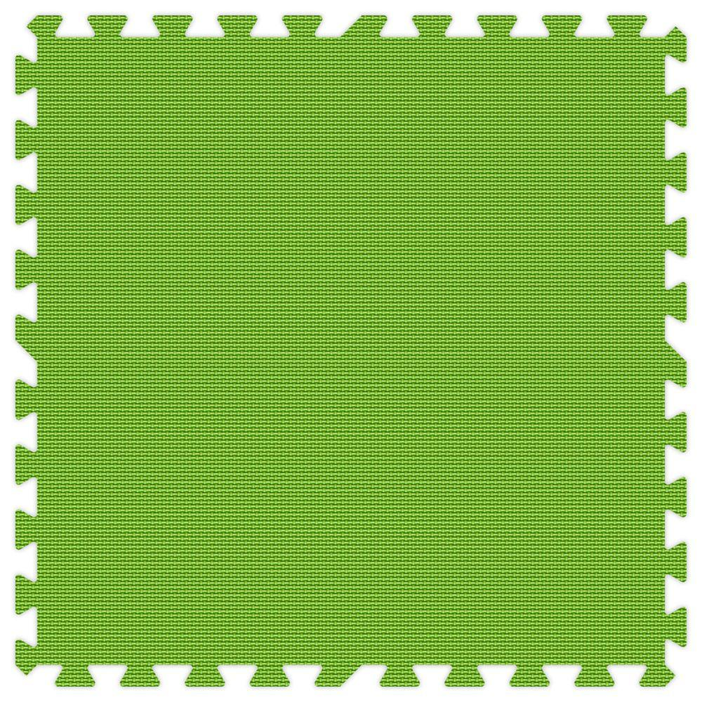 Groovy Mats Lime Green 24 in. x 24 in. Comfortable Mat (100 sq.ft. / Case)