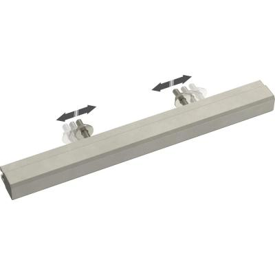 Tapered Edge 2 in. to 8-13/16 in. (51 mm to 224 mm) Satin Nickel Adjustable Drawer Pull