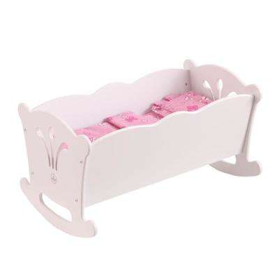 Lil' Doll Cradle in White